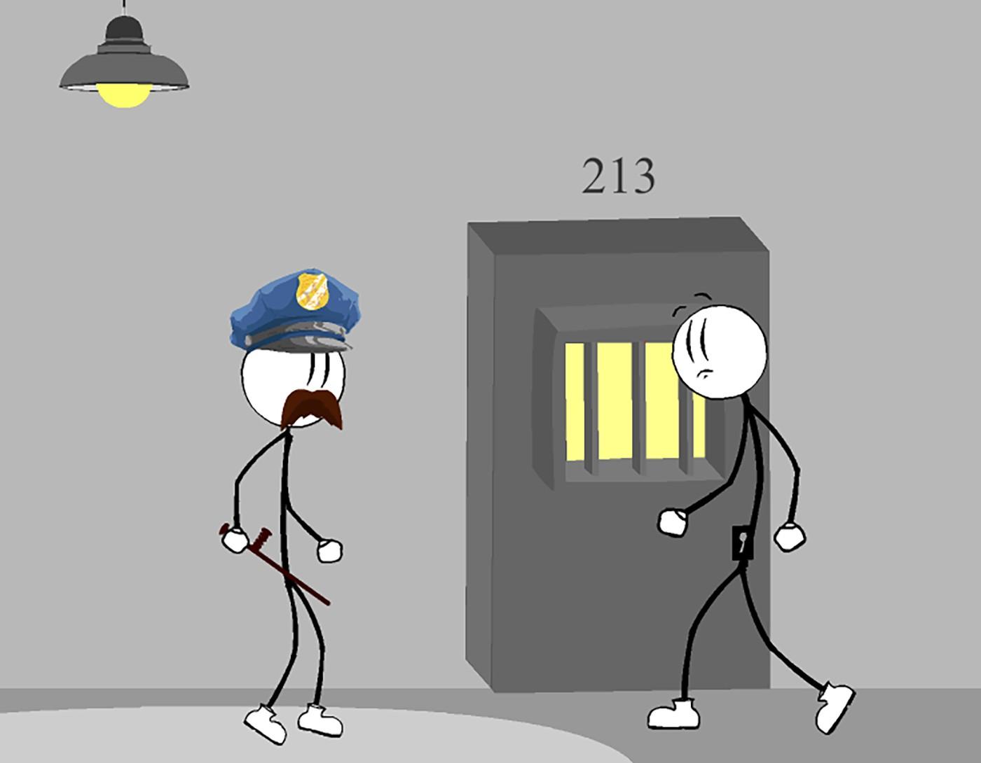 Игра Стикмен Побег из Тюрьмы